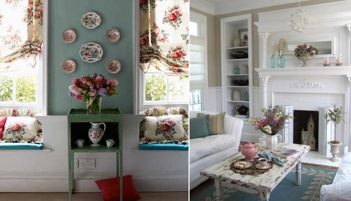 Estilo Shabby Chic na decoração: romance e flores