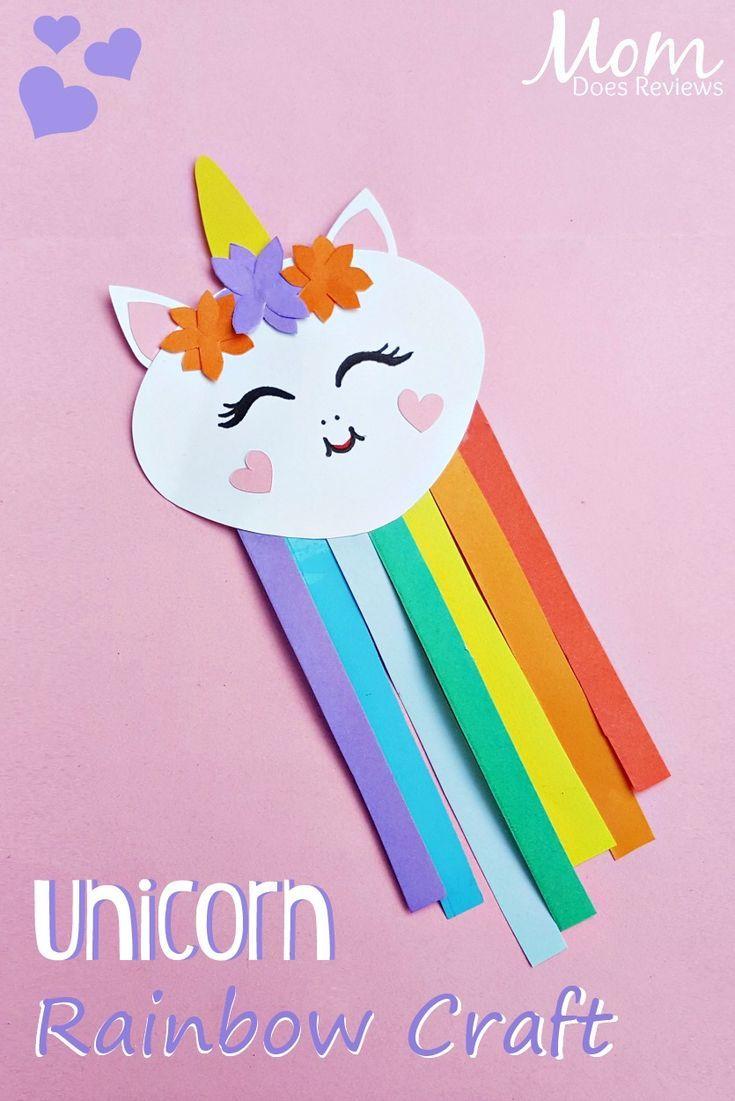 unicorn rainbow craft #Unicorns #crafts #papercraft #magical