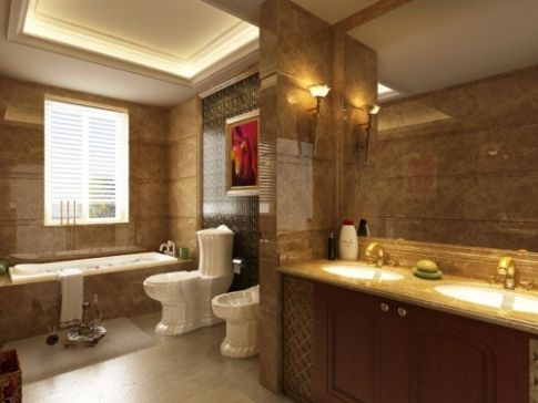 Bathroom Design Idea Creating Warmth With Color While Most