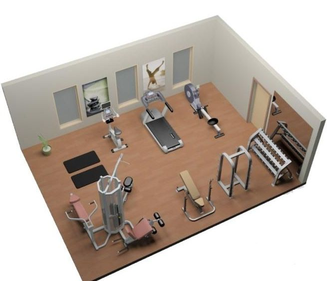 Home gym setup sports outdoors fitness