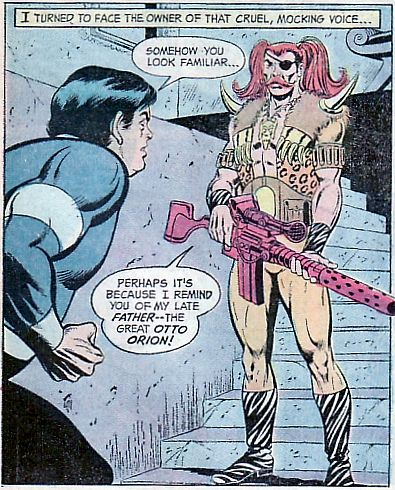 Superboy & the Legion of Super-Heroes #199. Bouncing Boy meets Otto Orion Jr. The worst dressed super-villain ever? #BouncingBoy #LegionOfSuperHeroes #OttoOrion