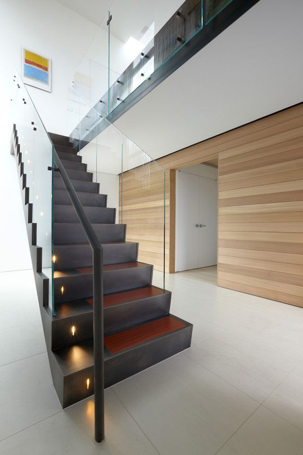 Best Architecture Awesome Staircase With Clear Glass Railing 400 x 300