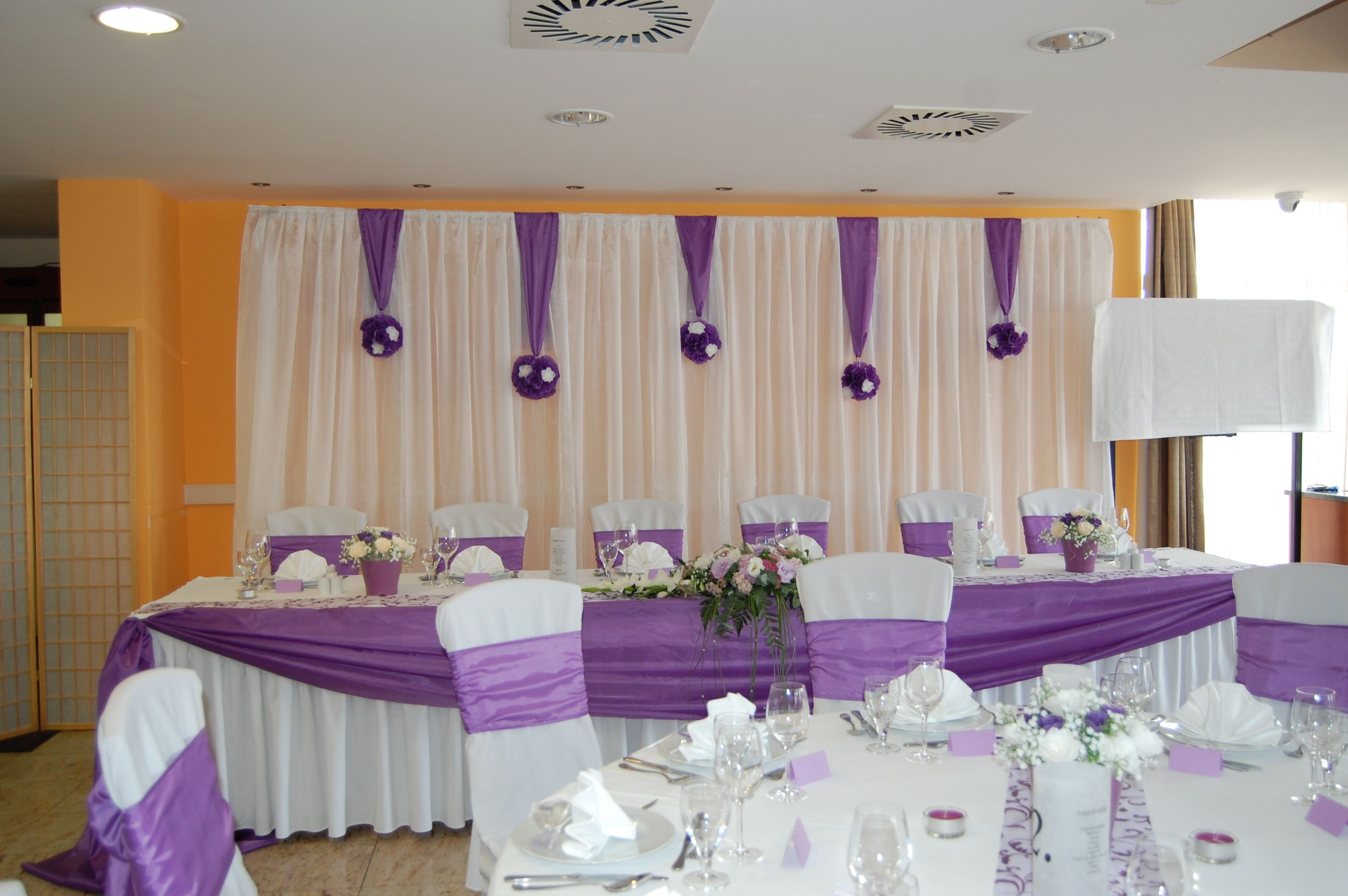 the elegant white on wedding blog decorations decor of silver all purple best and