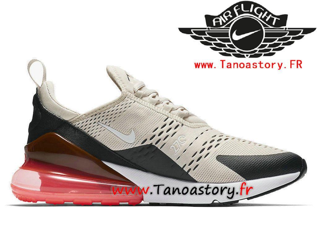 best website 67a6c eb0f4 Chaussures Homme Nike Air Max 270 Prix Pas Cher Blanc Rose AH8050-003-Tenez