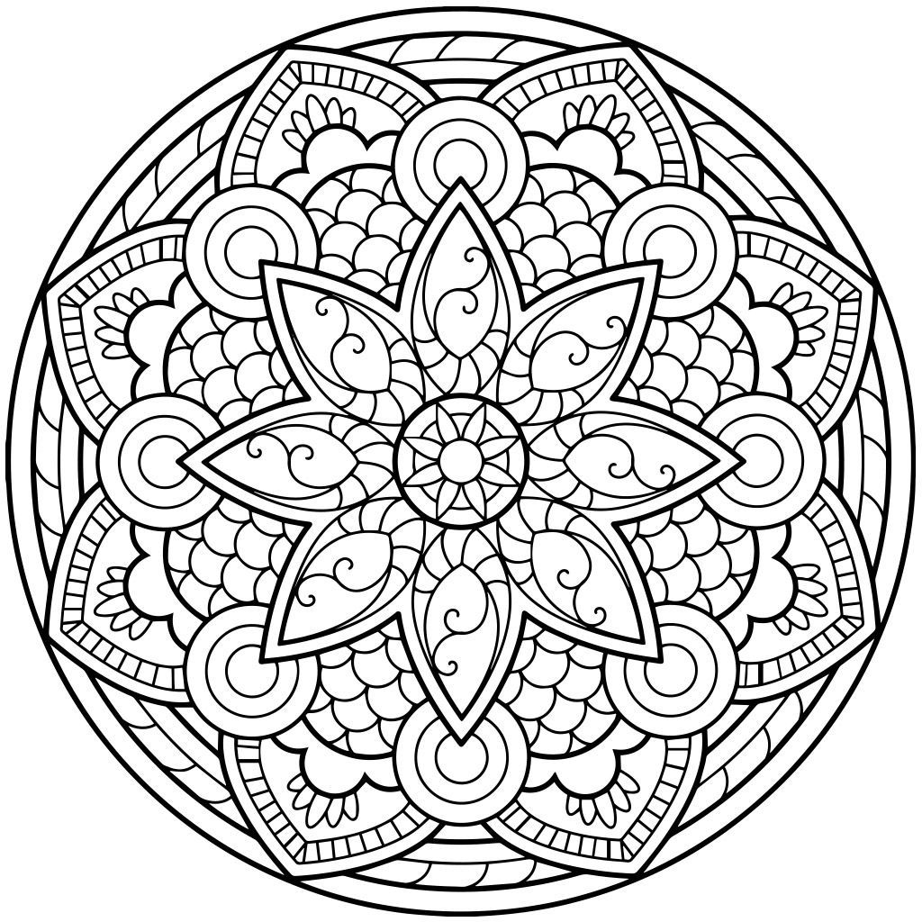 Easy Crafts To Make At Home   Mandala coloring pages ...