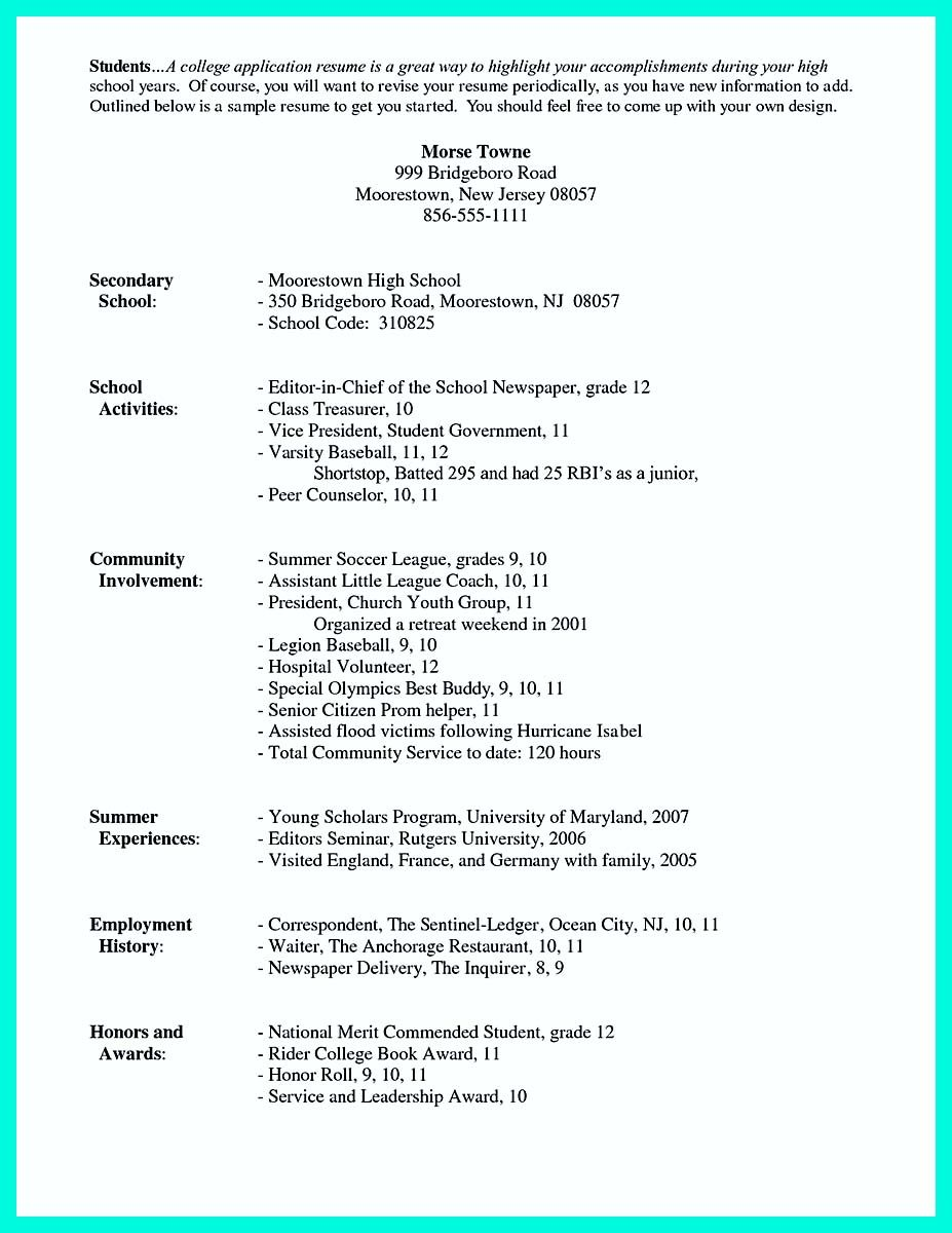 School Resume Template Awesome The Perfect College Resume Template To Get A Job Check