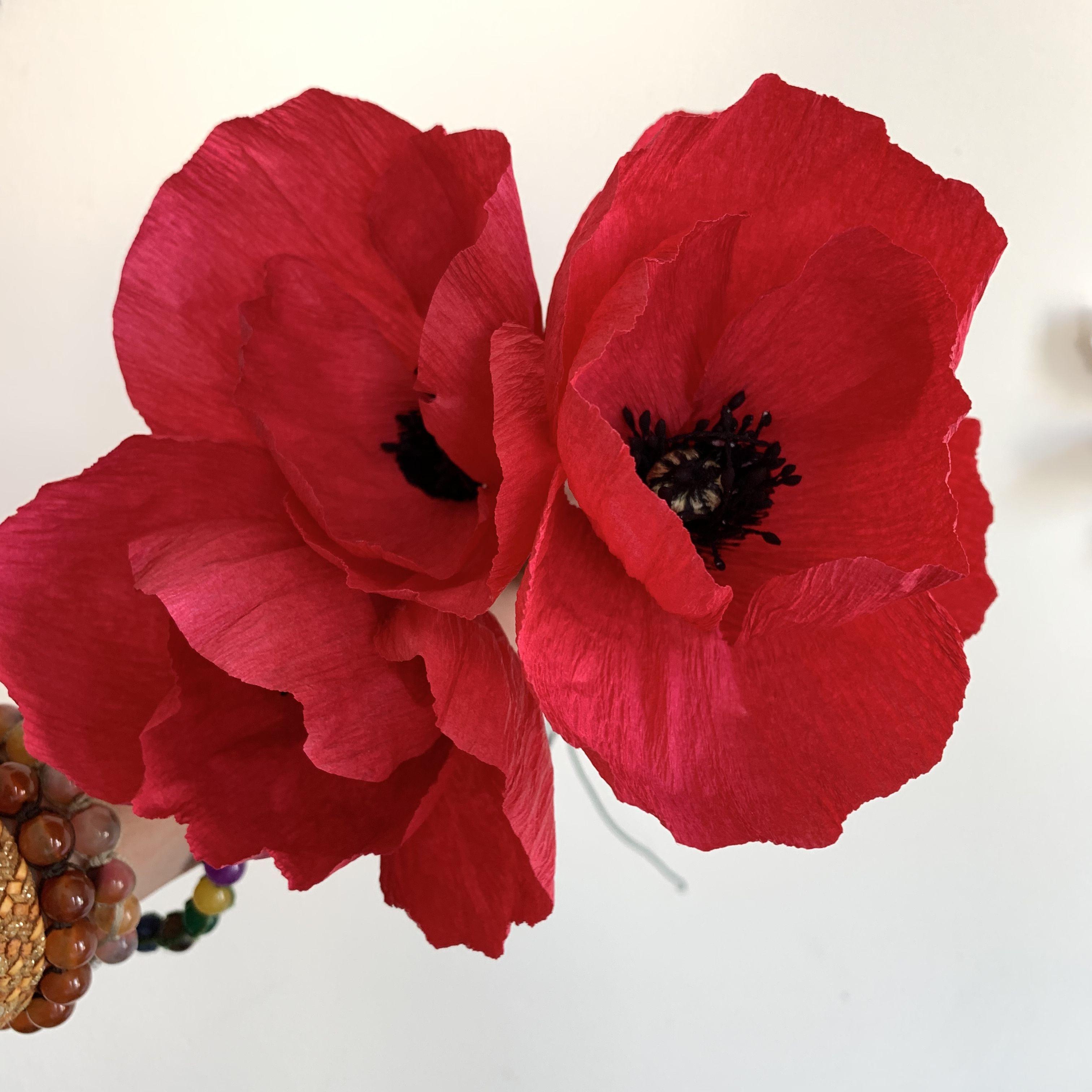 Papaveri Di Carta Crespa una nuovo bouquet è in lavorazione. al suo interno avrà