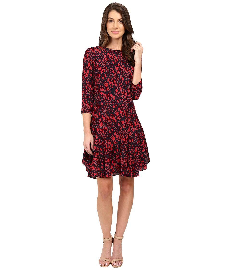 4 Sleeved Dress Women red Coût Exclusif À Vendre 4Xy2F