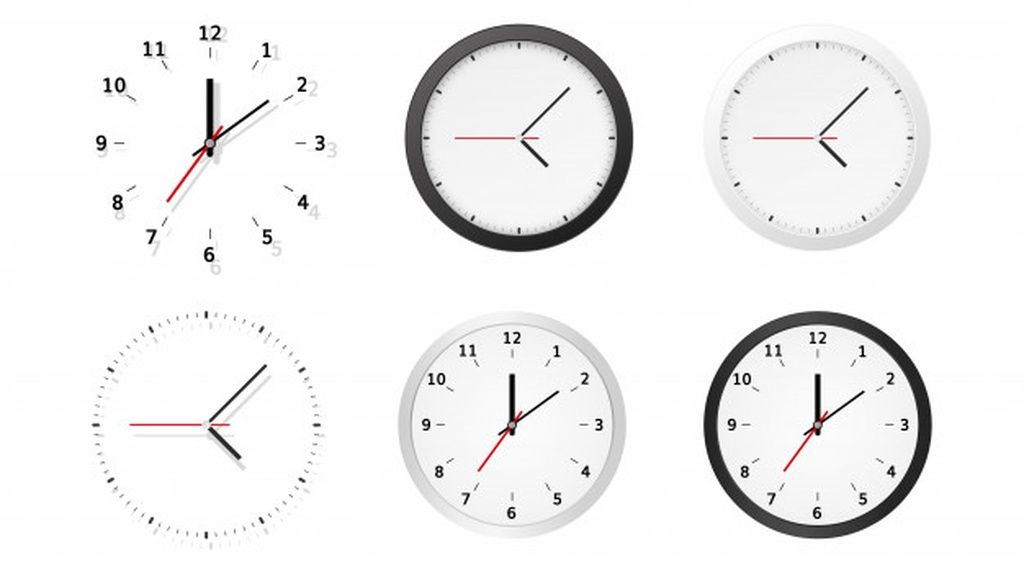 Collection of round analog dial clock faces #paid, , #PAID, #Ad, #analog, #faces, #clock, #Collection