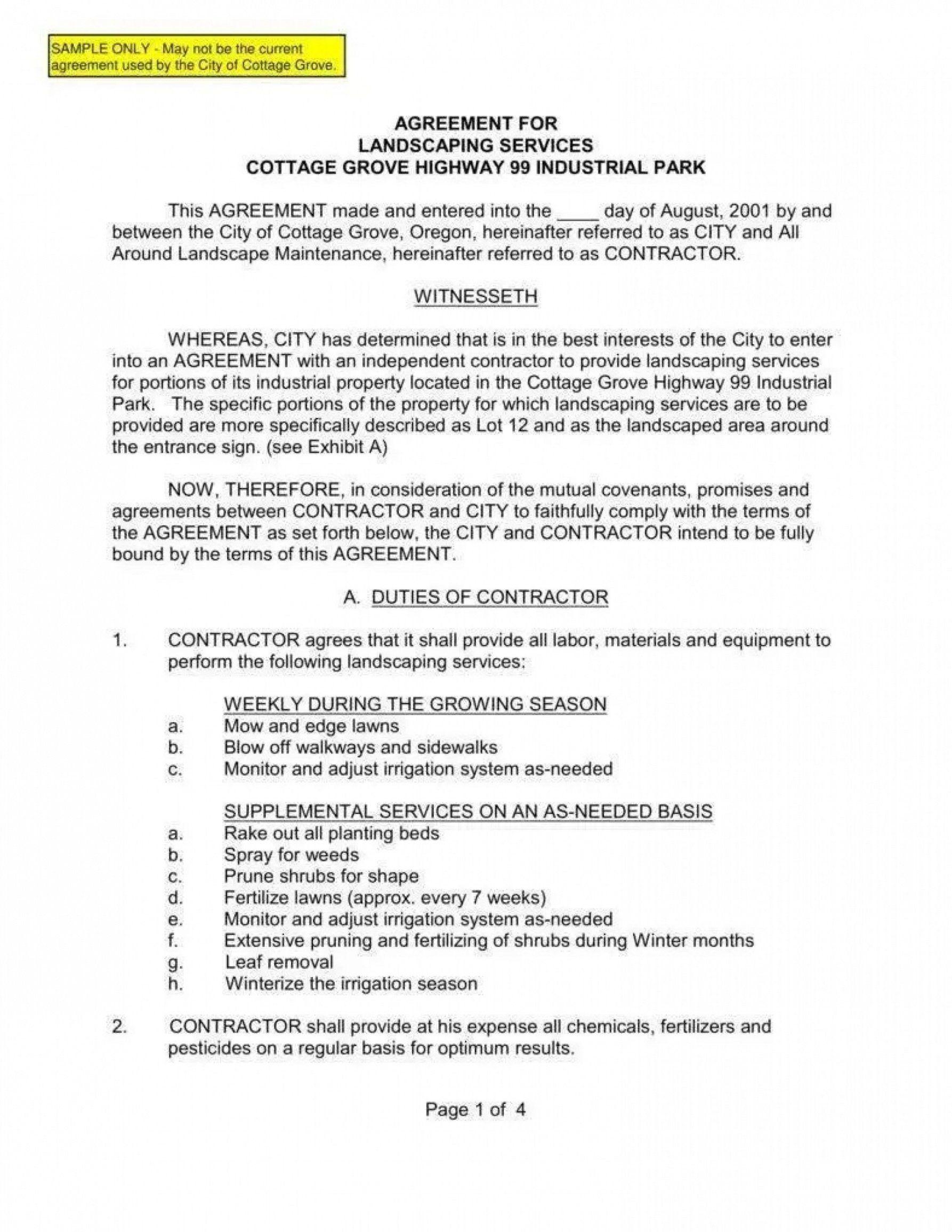 Landscape Maintenance Contract Template Addictionary Lawn Maintenance Contract Template Pdf In 2021 Contract Template Landscape Maintenance Landscape Services
