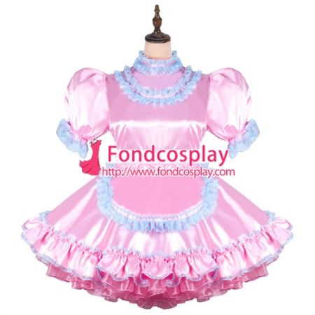 e5258e806 US$ 128.6 - Sissy Maid Satin Dress Lockable Uniform Cosplay Costume Tailor- Made[G2450] - www.fondcosplay.com