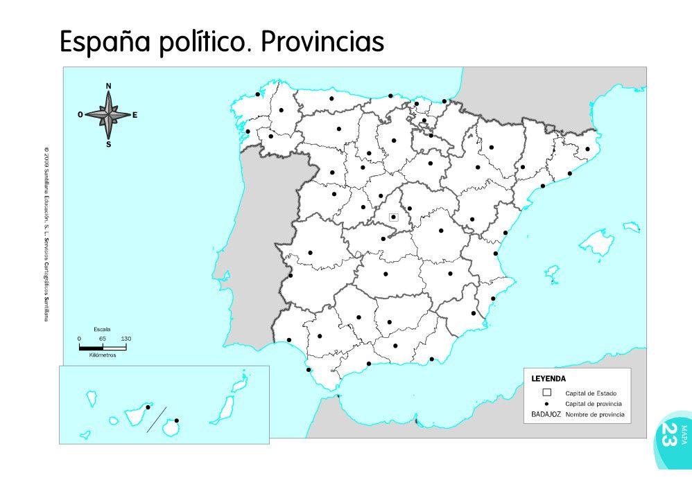 Mapa Mudo Provincias España.Mapas De Espana Fisicos Politicos Y Mudos Mapa De Espana