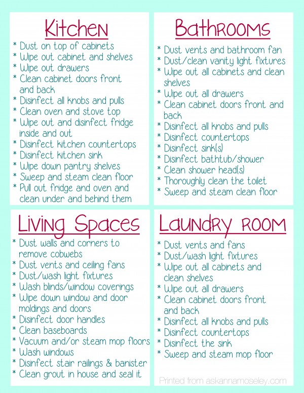 What To Clean Before You Move Into A House And Free Printable