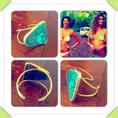 Samanca One of a Kind Turquoise cuff style bracelet