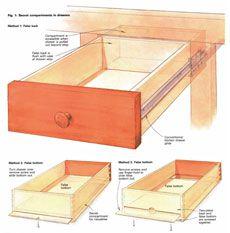 Secret compartments a furnituremaker 39 s cache box hidden for Secret drawer kitchens