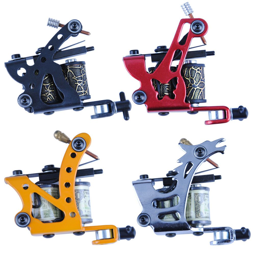 How to design a new school tattoo leaftv - New 1pc Custom Pro Top Carbon Steel Wrap Coils Tattoo Machine Gun Supply Kit