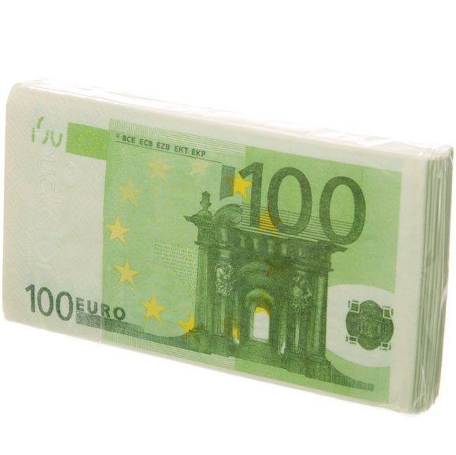 Servilletas De Papel Billetes De 100 Euros Money Euro Money Clip