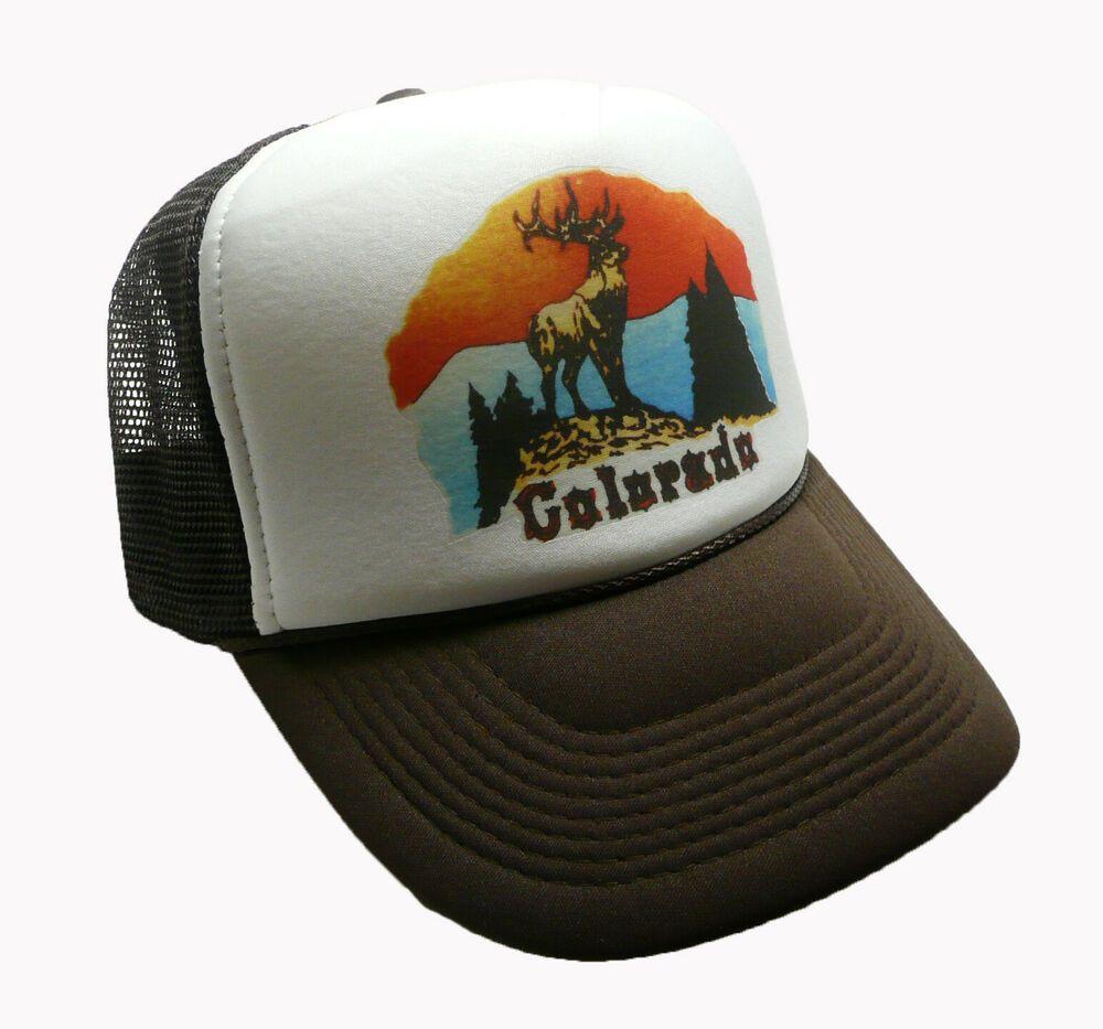 6f27bf2d Vintage Colorado hat Trucker Hat Snap back Cap Brown Vacation hat new  #unidentified #TruckerHat