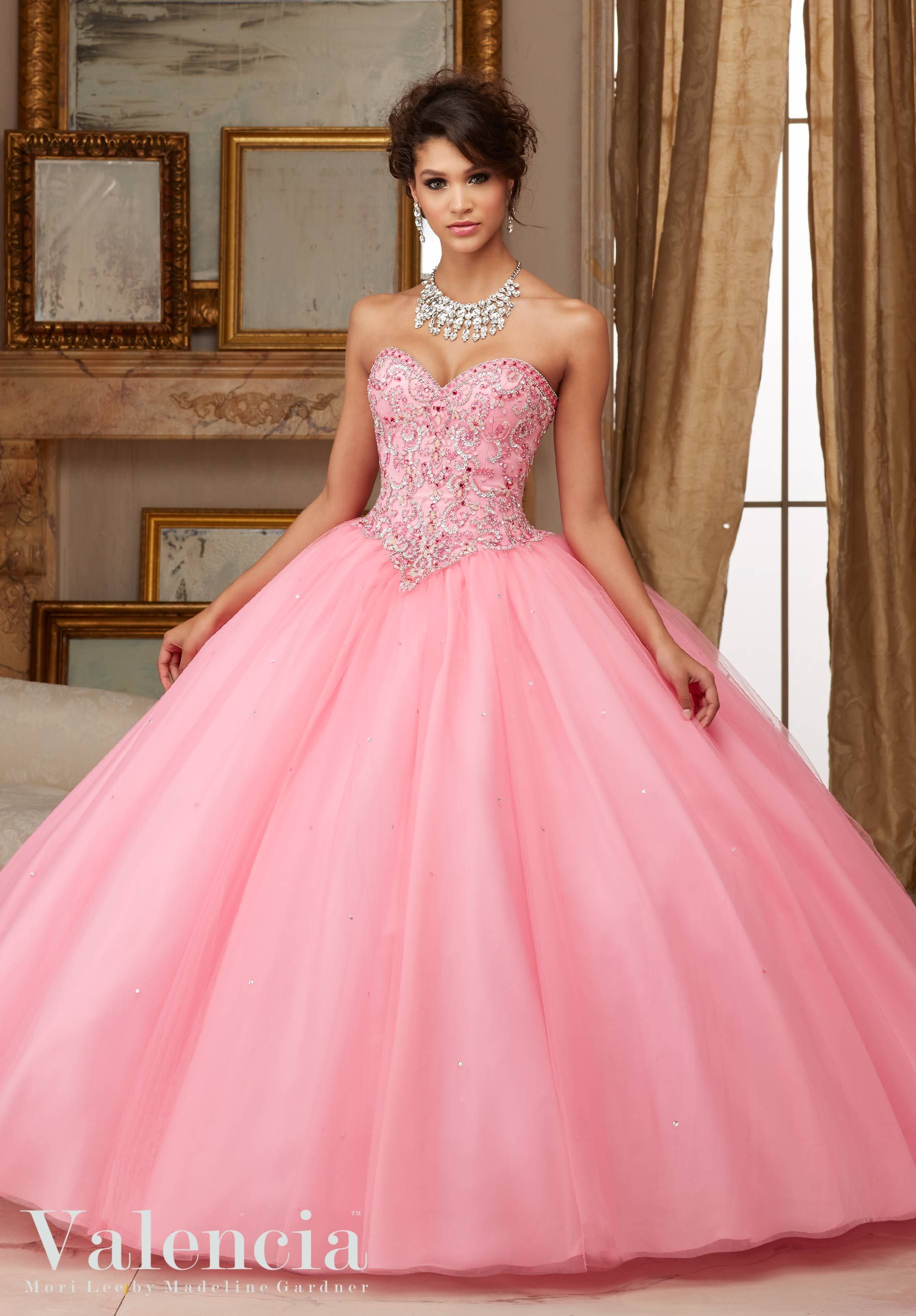 Pink Quinceanera Dress by Valencia Morilee designed by Madeline ...