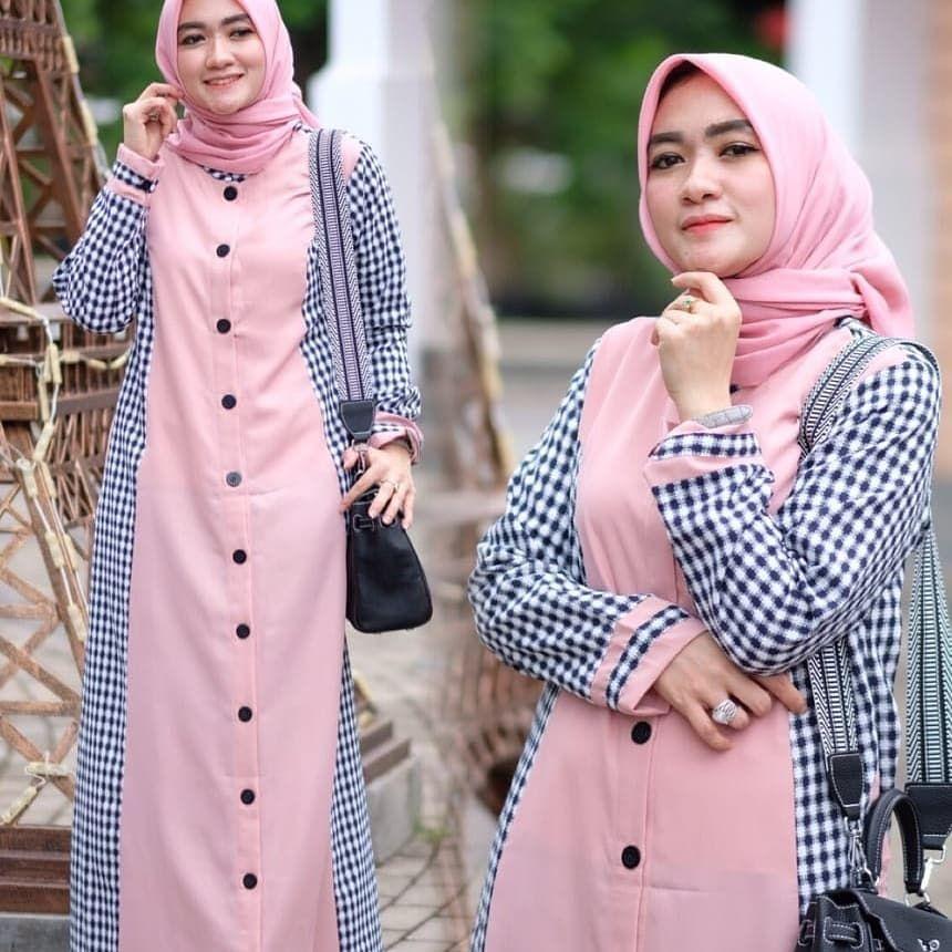 Keyzha Dress Mat Flanel Import Mix Torino Gamisbasic Dressmuslimah