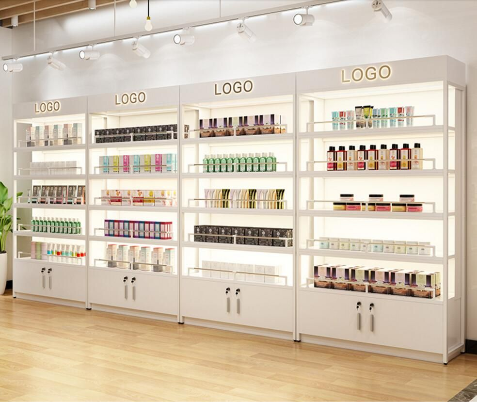 Cosmetics Display Cabinet Mother Baby Shop Bag Shoes Manicure Supermarket Snack Tobacco Wine Tea Skin Care Beauty Salon Product Storage Holders Racks Ali Store Design Interior Shop Counter Design Store