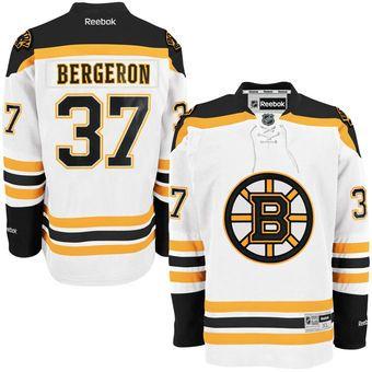 bebda5dacb7 Reebok Patrice Bergeron Boston Bruins White Premier Player Jersey ...