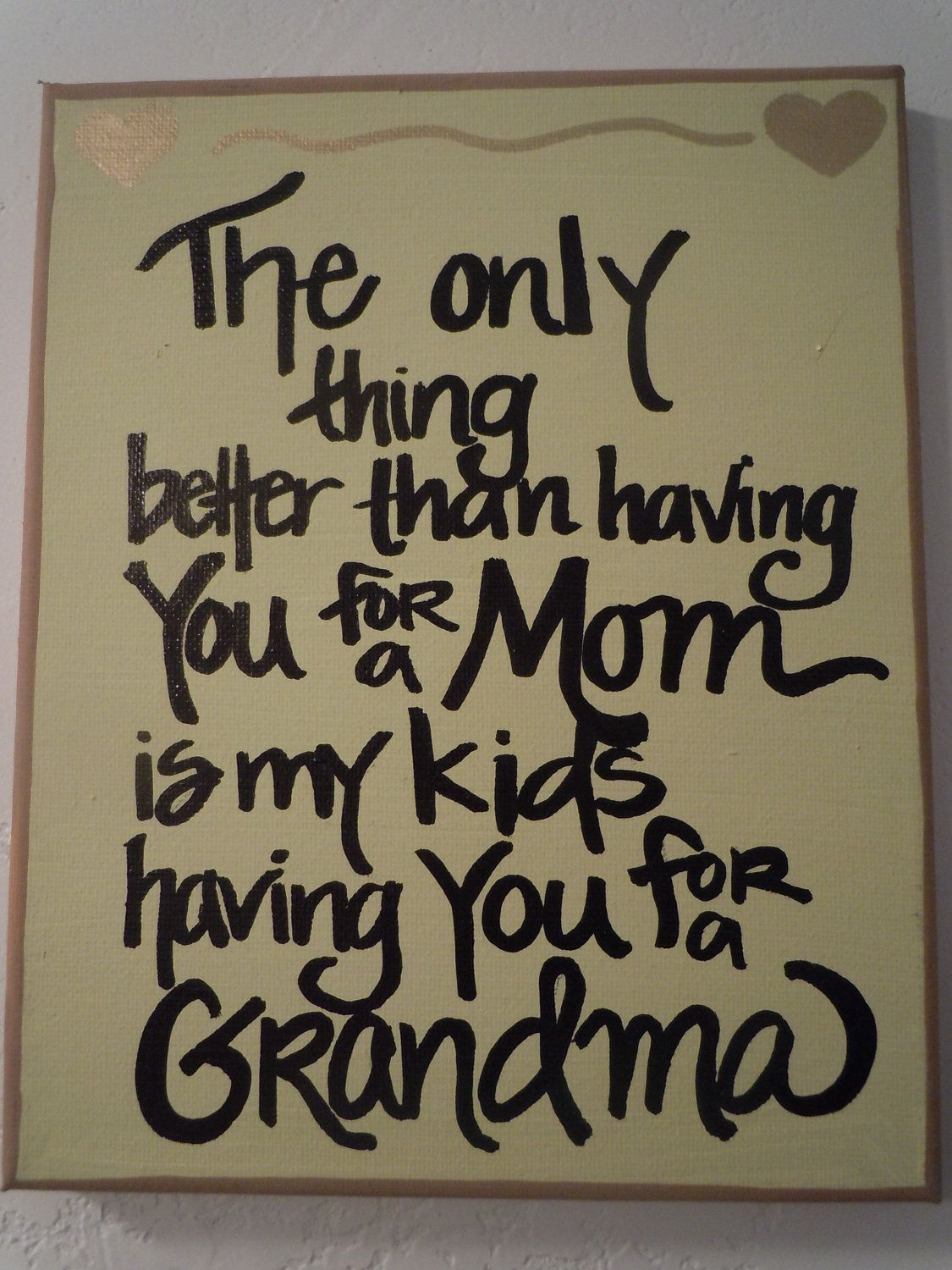 Handpainted 8x10 canvas for Mom or Grandma by