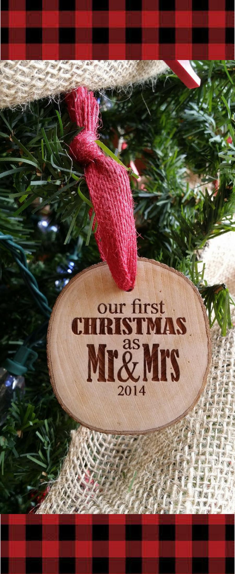 Newlywed christmas ornament \