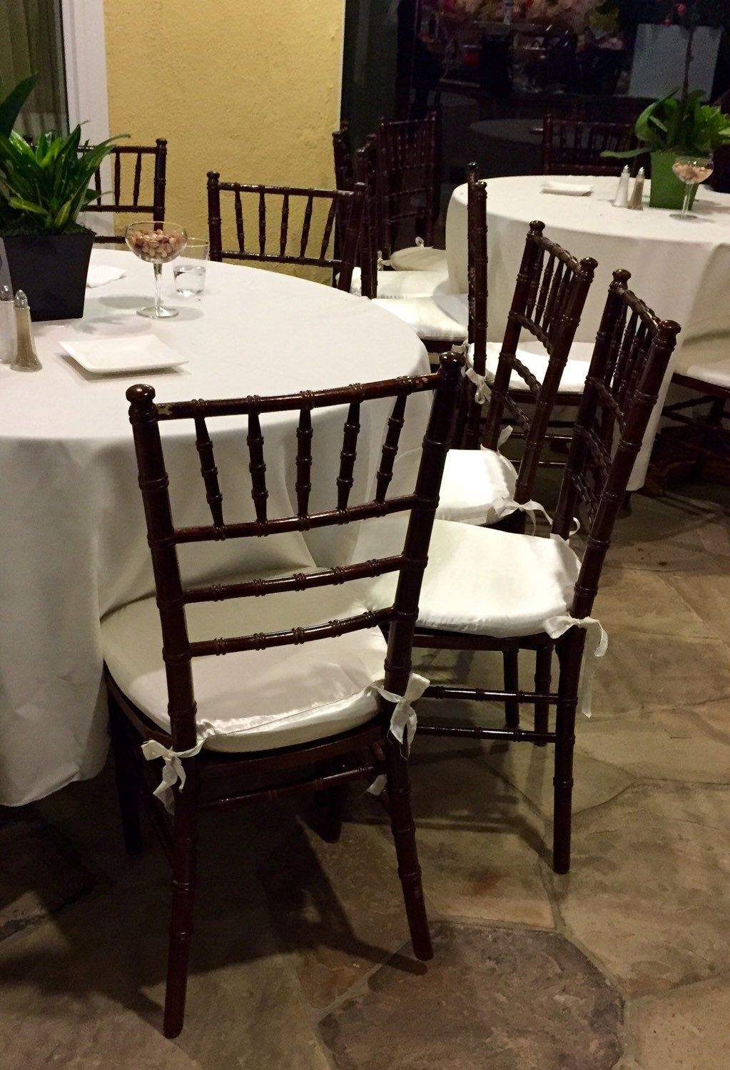 Chair Cushion Cover Chiavari Set Of 10 Or More Covers Wedding Decor Bridal Baby Shower White Ivory Black