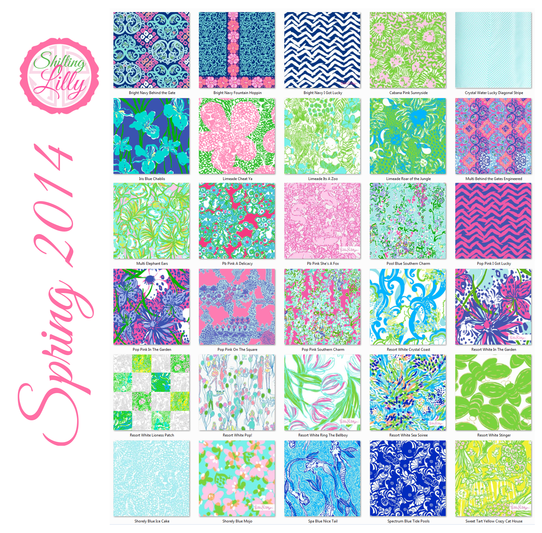 746e590362a734 Lilly Pulitzer Prints From Spring 2014 | Lilly Pulitzer Prints 2014 ...