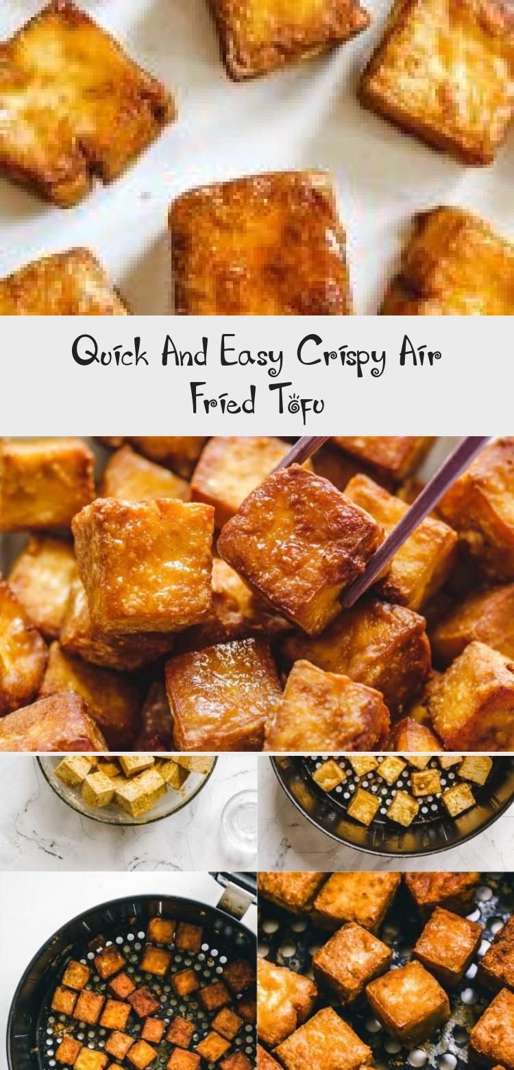 This Quick and Easy Crispy Air Fried Tofu is the BEST way