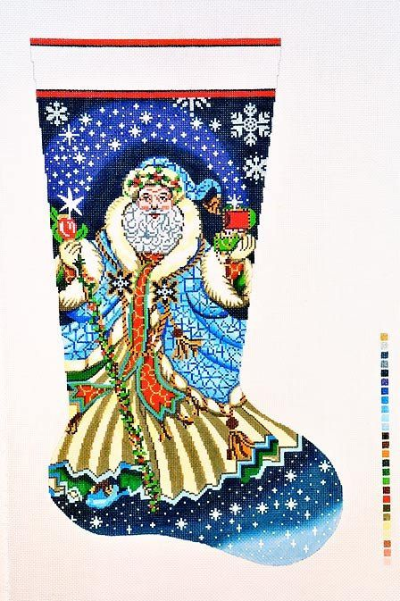 Needlepoint Hand Painted Canvas LEE Christmas Stocking by CLGifts ...