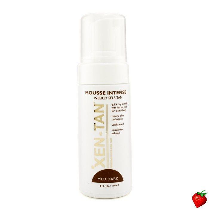 Xen Tan Mousse Intense: Weekly Self-Tan (Med / Dark) 118ml/4oz #XenTan #SkinCare #Women #Beauty #FREEShipping #StrawberryNET