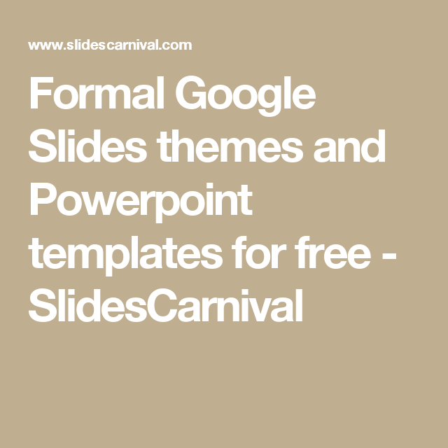 Formal google slides themes and powerpoint templates for free formal google slides themes and powerpoint templates for free slidescarnival toneelgroepblik Gallery