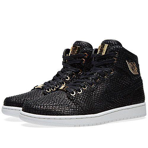 timeless design 090eb d3f5e Nike Mens Air Jordan 1 Pinnacle Black Metallic Gold-Metal.