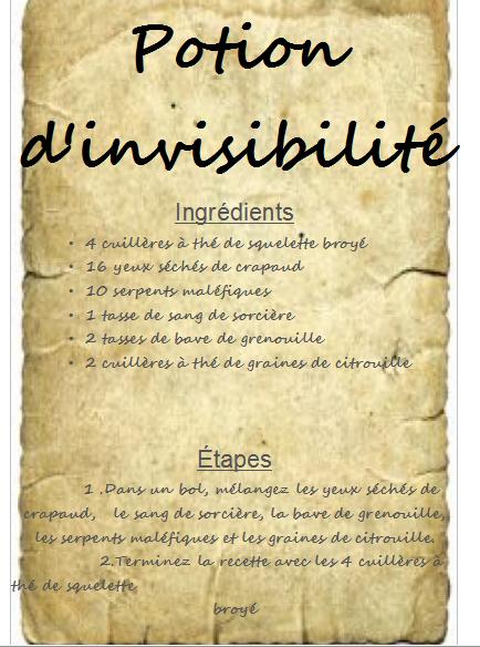 Bevorzugt Potion d'invisibilité | Grimoire de sorcellerie | Pinterest  UO24