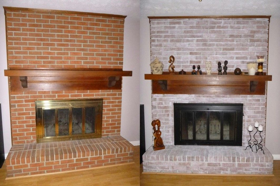 Fireplace Makeover 8 Ounces Of Behr Satin Interior Paint Mixed