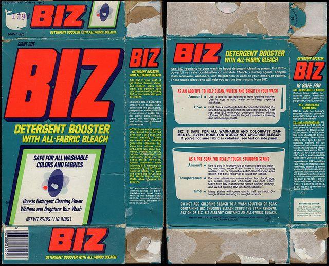 Procter Gamble Biz Detergent Booster Giant Size Box 1970 S