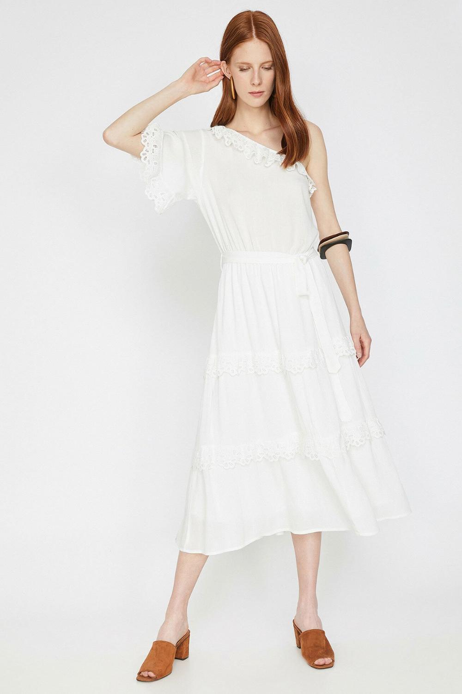 Koton Beyaz Elbise 9yak83311ew Elbise Modelleri Elbise Moda Stilleri