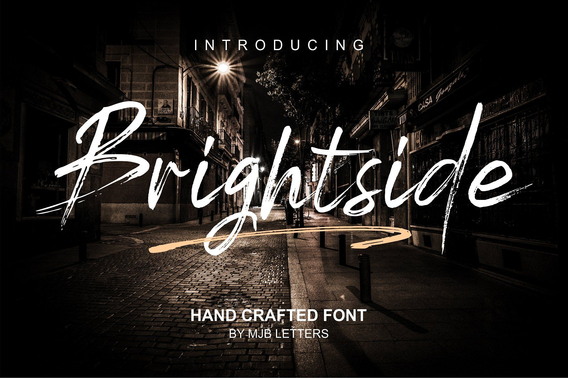 Brightside Brush Font by MJB Letters on creativemarket