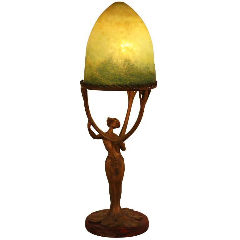 French Art Nouveau Table Lamp | | Lamp, Table