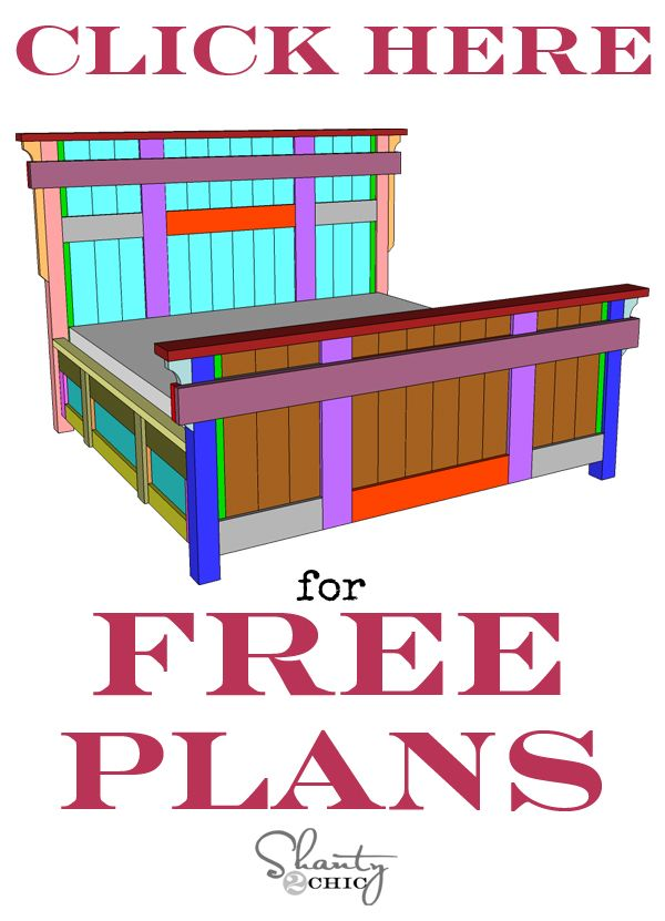 DIY King Size Bed Free Plans | Pinterest | Bett selber bauen, Selber ...