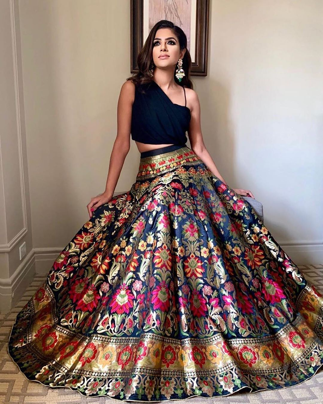 Multicoloured Bridal Skirt In 2020 Dress Indian Style Indian Bridal Outfits Indian Lehenga Choli