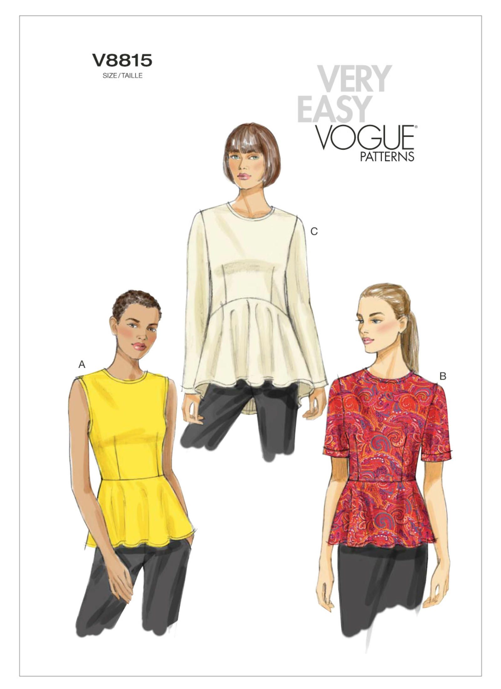 V8815 | Vogue Patterns | Sewing Patterns - Vogue to Buy | Pinterest