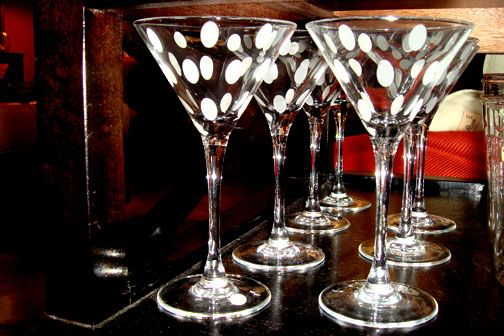 love these martini glasses