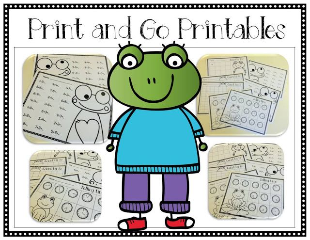 Frog Frenzy Math Centers & Printables https://www ...