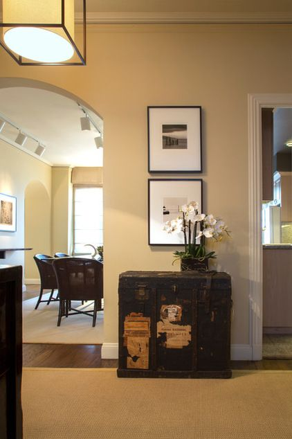 A Simple Classy Addition To A Narrow Wall Houzz Asian Hall By