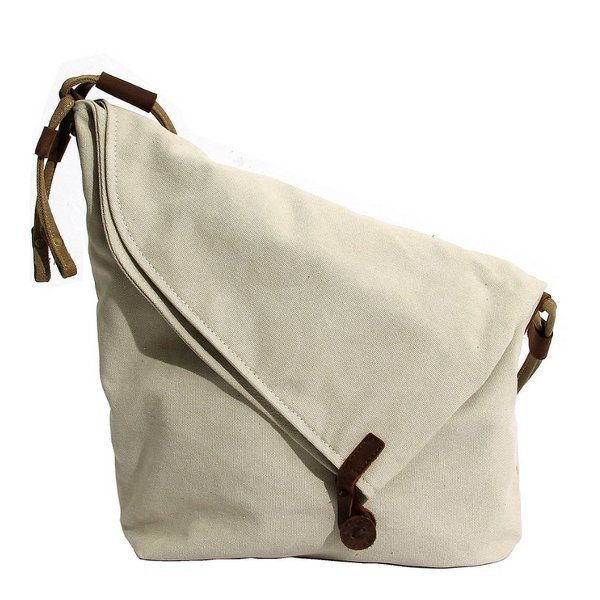 1068c933b883 Women Vintage Messenger Bag Genuine Leather Canvas Crossbody Bag Tribal  Rucksack