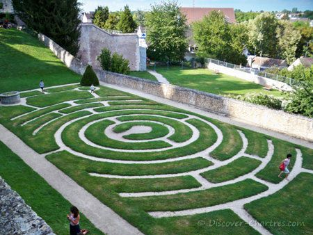Labyrinth Designs Garden tags delight Chartres Labyrinth Garden France