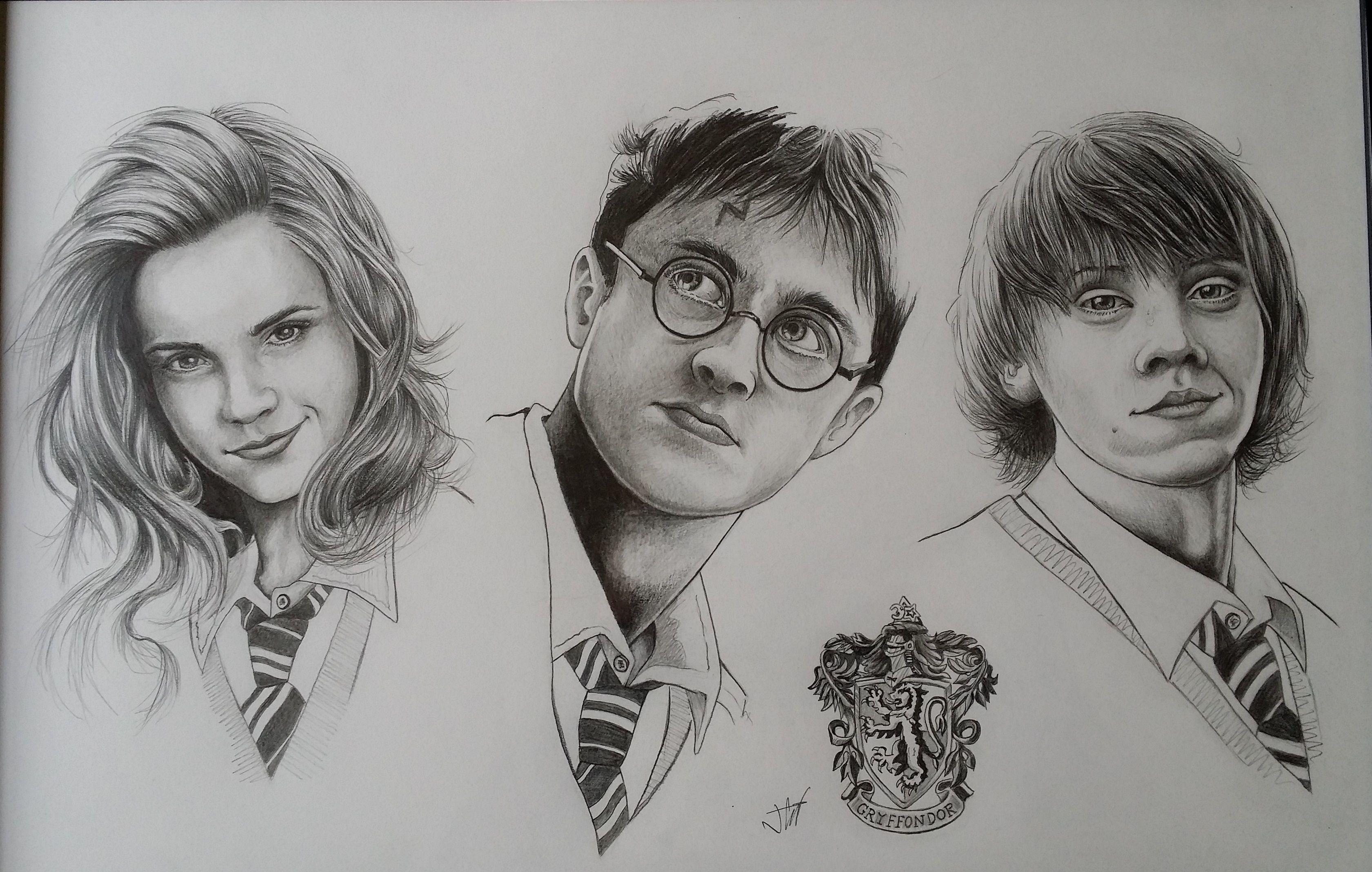 harry potter, hermione, ron | Dessin